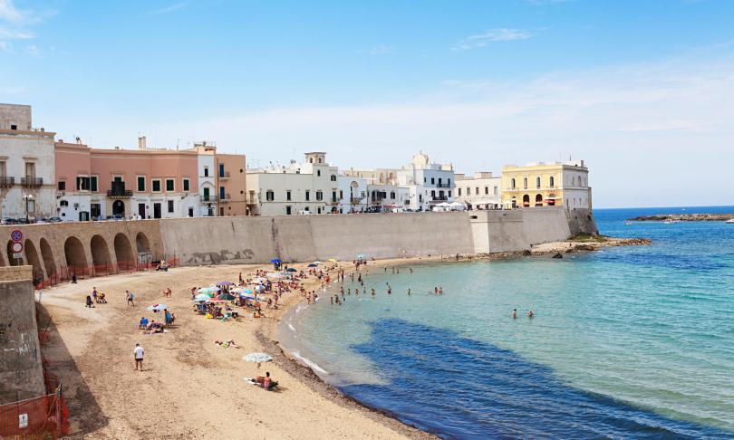 The beach at Gallipoli, Puglia, Italy